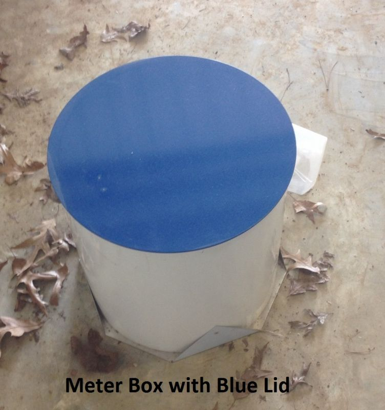 Meter Box w/Blue Lid