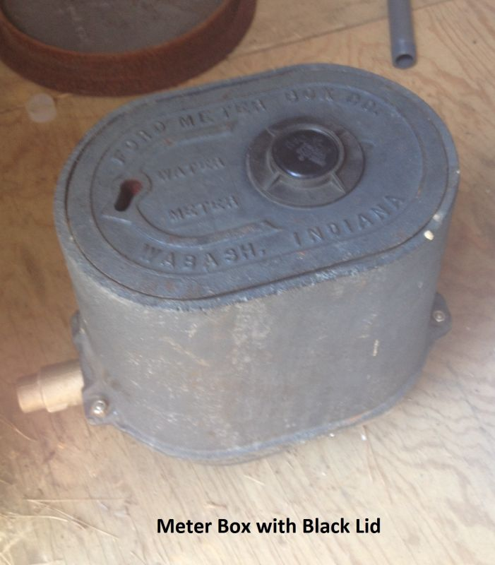 Meter Box w/Black Lid